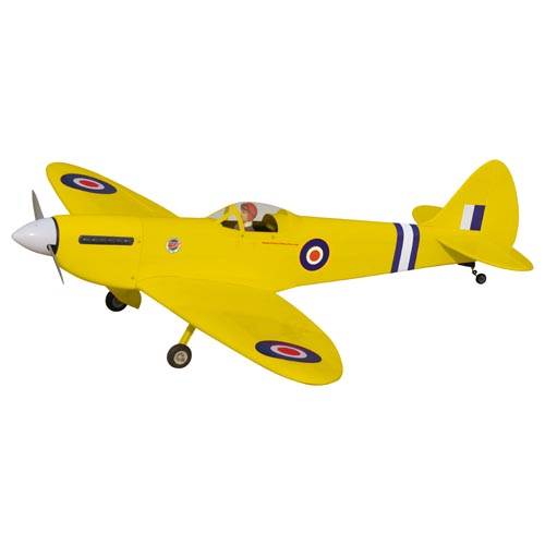 Spitfire 40 (Yellow) with Electric Retracts - The World Models