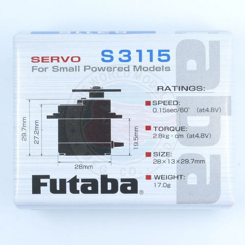 Futaba S3115 High Torque Micro Servo - The World Models